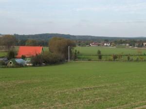 Miękowo (gmina Czerwonak) widok na dolinę rzeki Warty